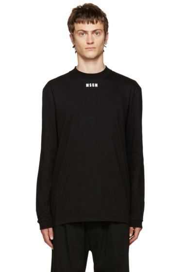 MSGM - Black Logo T-Shirt