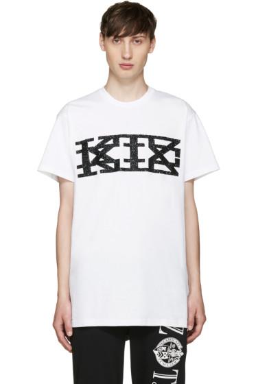 KTZ - White Textured Logo T-Shirt