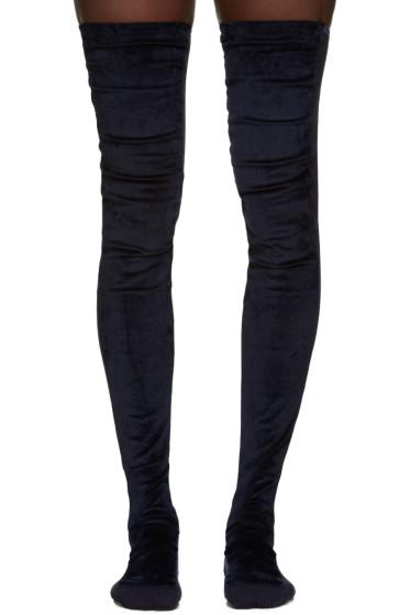 Sacai - Navy Tall Velvet Socks