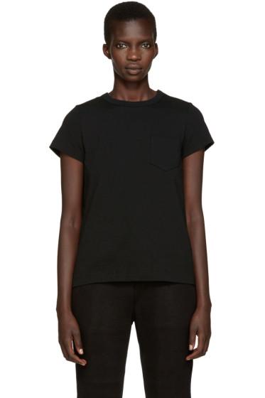 Sacai - Black Pleated Back T-Shirt
