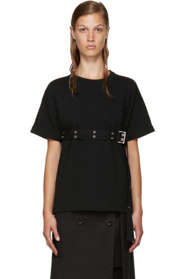 Sacai - Black Belted T-Shirt