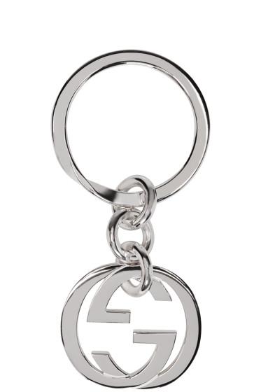Gucci - Silver Monogram Keychain