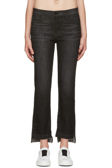 Frame Denim - Black Le High Straight Jeans