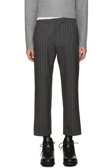 Nanamica - Grey Wool Pinstripe Trousers