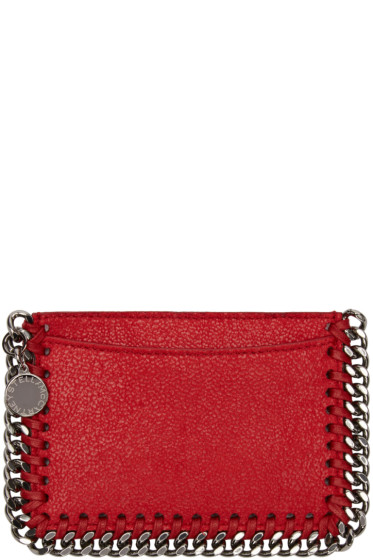 Stella McCartney - Red Falabella Shaggy Deer Card Holder