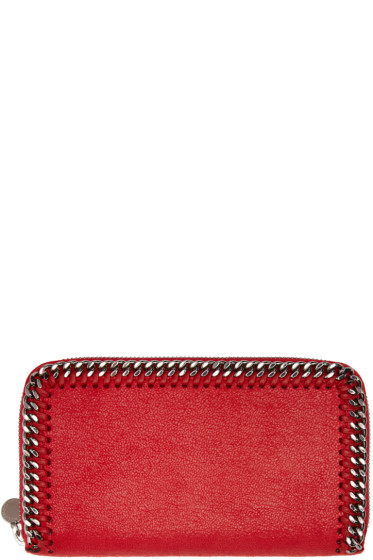 Stella McCartney - Red Falabella Shaggy Deer Wallet