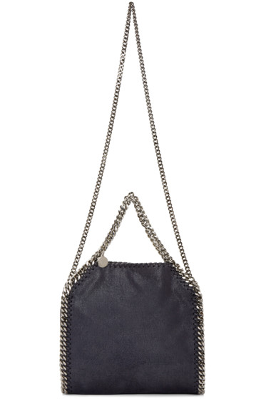 Stella McCartney - Navy Falabella Shaggy Deer Tiny Tote Bag