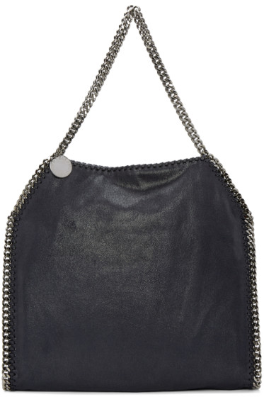 Stella McCartney - Navy Small Falabella Shaggy Deer Tote