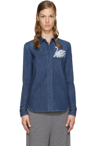 Stella McCartney - Blue Denim Swan Shirt