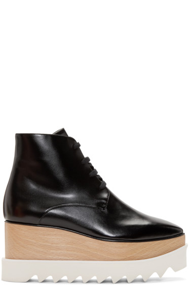 Stella McCartney - Black Platform Elyse Boots