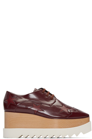 Stella McCartney - Burgundy Star Platform Elyse Derbys