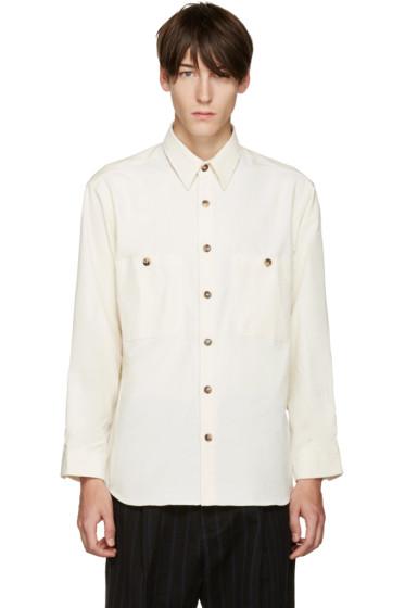 Umit Benan - Off-White Two-Pocket Shirt