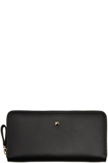 Valentino - Black Single Stud Wallet