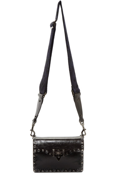 Valentino - Black Rockstud Rolling Noir Bag