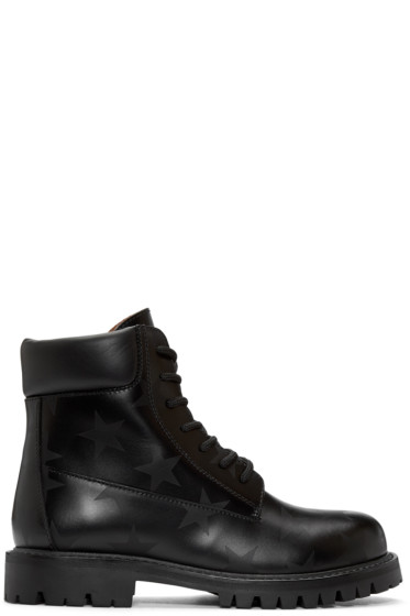 Valentino - Black Star Ankle Boots