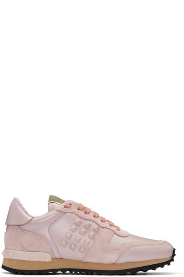 Valentino - Pink Rockstud Sneakers