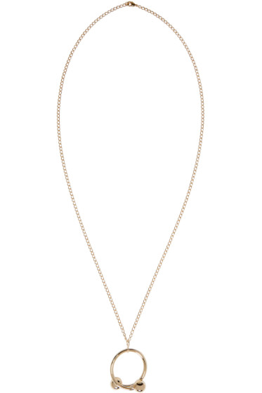 J.W.Anderson - Gold Double Ball Pendant Necklace