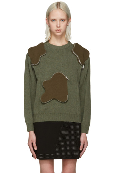 J.W.Anderson - Green 3D Pocket Sweater
