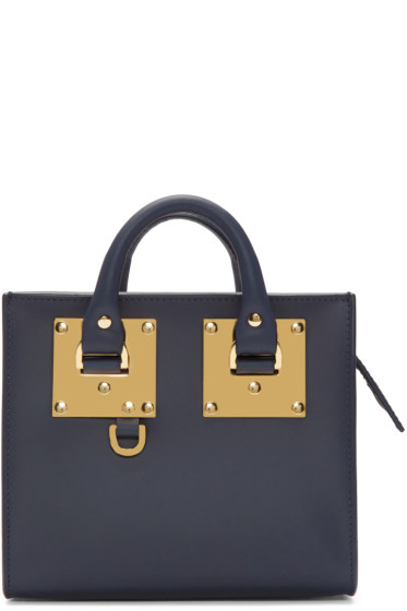 Sophie Hulme - Navy Mini Albion Box Tote