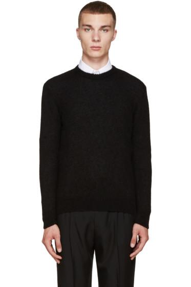 AMI Alexandre Mattiussi - Black Alpaca Crewneck Sweater