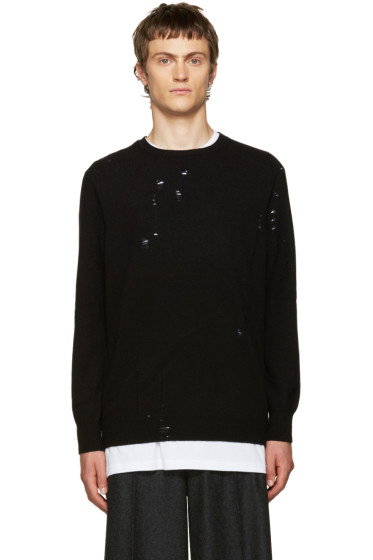 Yang Li - Black Broken Sweater