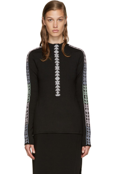 Peter Pilotto - Black Band Mock Neck Sweater