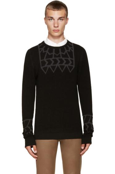 Kolor - Black Embossed Sweater