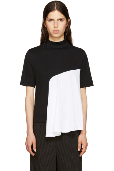 Facetasm - Black Mock-Neck T-Shirt