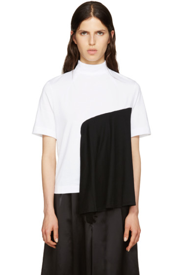 Facetasm - White & Black Panel T-Shirt