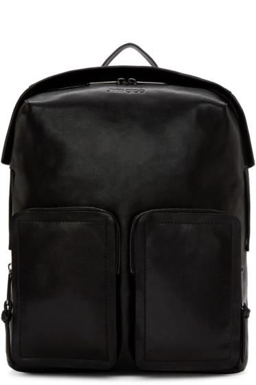 Jimmy Choo - Black Leather Backpack