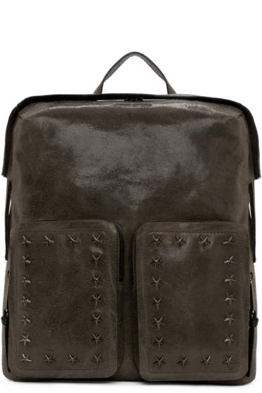 Jimmy Choo - Grey Suede Lennox Backpack