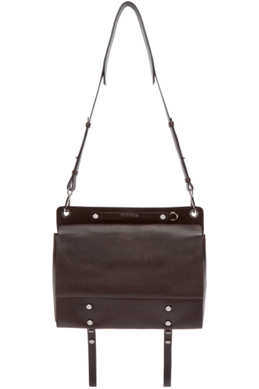 Jimmy Choo - Brown Leather Messenger Bag