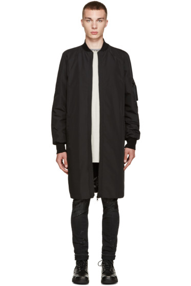 Marcelo Burlon County of Milan - Black Reversible Rahue Coat
