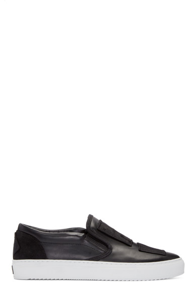 Marcelo Burlon County of Milan - Black Patch Slip-On Sneakers
