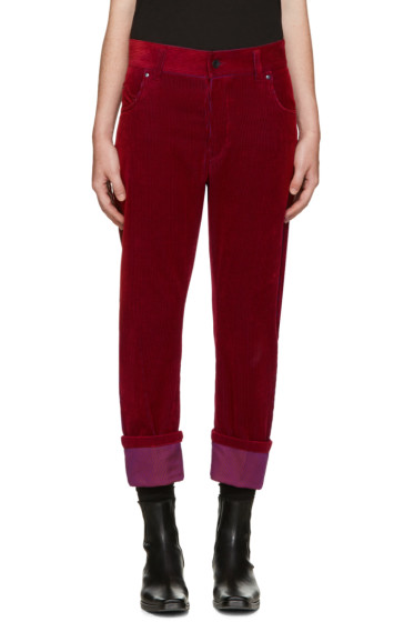 Haider Ackermann - Red Corduroy Trousers