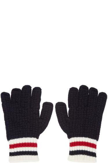 Moncler Gamme Bleu - Tricolor Wool Gloves