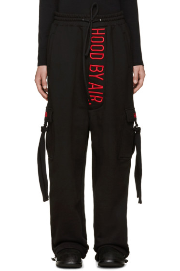 Hood by Air - Black Cargo Lounge Pants