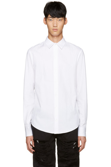Hood by Air - White Poplin Stingray Shirt
