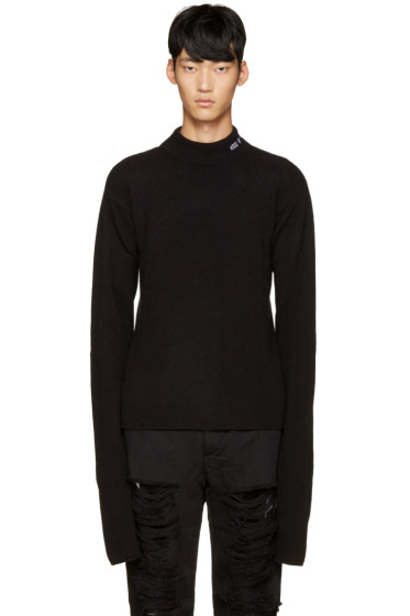 Hood by Air - Black Logo Turtleneck
