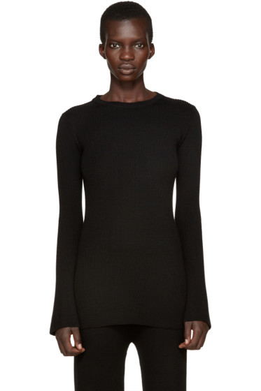 Each x Other - Black Rib Knit Pullover