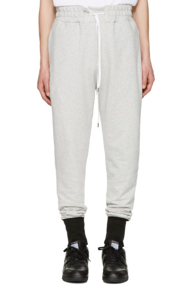 Pyer Moss - Grey French Terry Lounge Pants