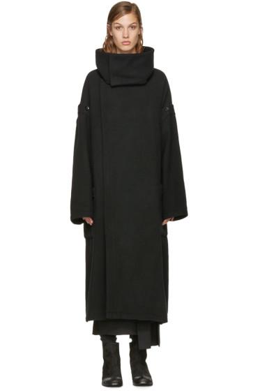 Yohji Yamamoto - Black Oversized Coat