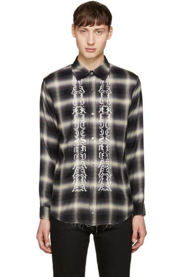 Christian Dada - Black Classic Cut-Off Shirt