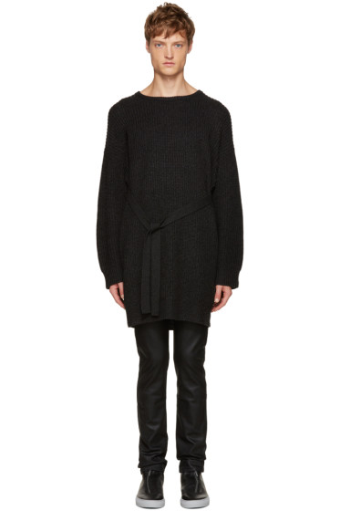 Christian Dada - Black Wool Ribbed Sweater