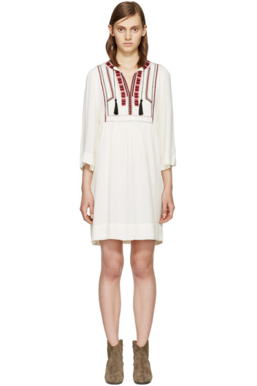 Isabel Marant Etoile - Ecru Embroidered Clara Dress