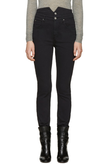Isabel Marant Etoile - Black High-Rise Earley Jeans