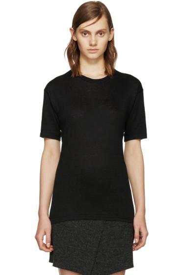 Isabel Marant Etoile - Black Linen Keiran T-Shirt