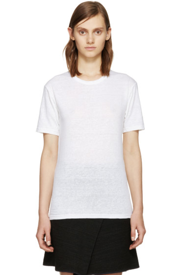 Isabel Marant Etoile - White Linen Keiran T-Shirt