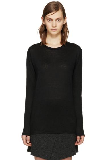 Isabel Marant Etoile - Black Linen Karon T-Shirt