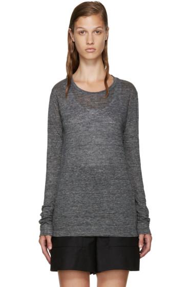 Isabel Marant Etoile - Grey Linen Karon T-Shirt